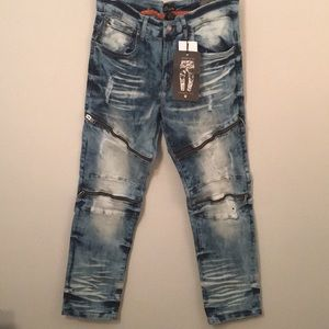 Other - New Biker denim with stretch material